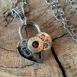 Jewelry - Heart, ammunition casing necklace
